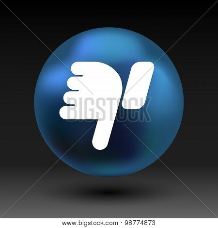 Vector hand with thumb down icon symbol