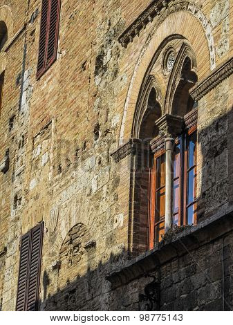Medieval Window in San Gimignano
