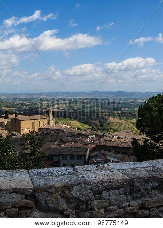 San Gimignano Aerial View