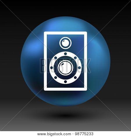 icon audio speaker sound wave vector symbol