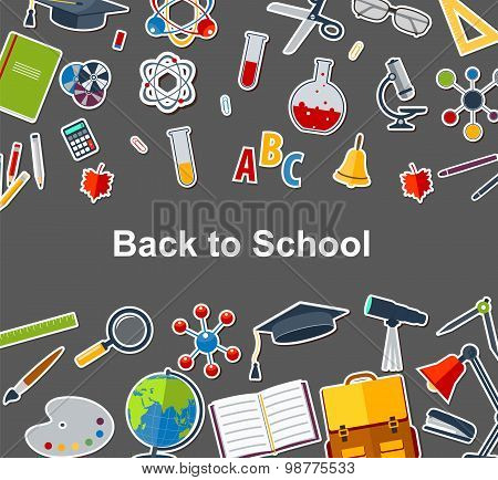 Background Back To School With Training Accessories Of Schools.