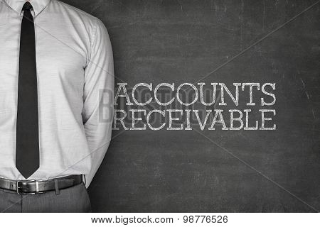 Accounts receivable text on blackboard