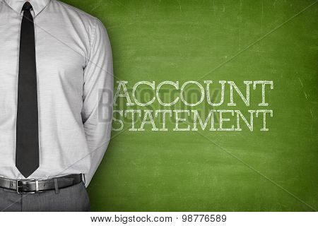 Account statement text on blackboard