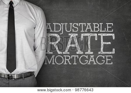 Adjustable rate mortgage text on blackboard