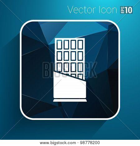 Opened chocolate bar vector icon logo design