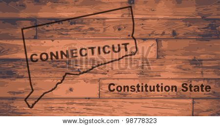Connecticut Map Brand
