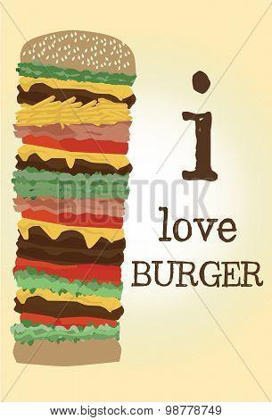 Vector high burger