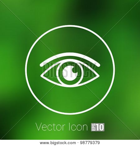 Eye icon vector vision symbol look graphic pictogram