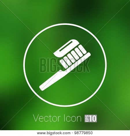 Toothbrush With Paste brush icon vector isolated human paste