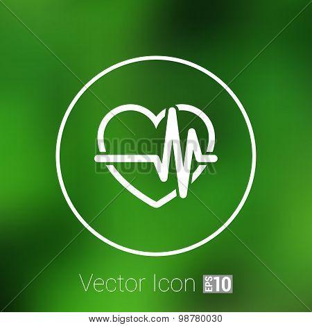 Heartbeat. Echocardiography. Cardiac exam Form heart heartbeat