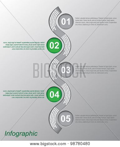 Infographic design template. Ideal for ranking and statistic data display.