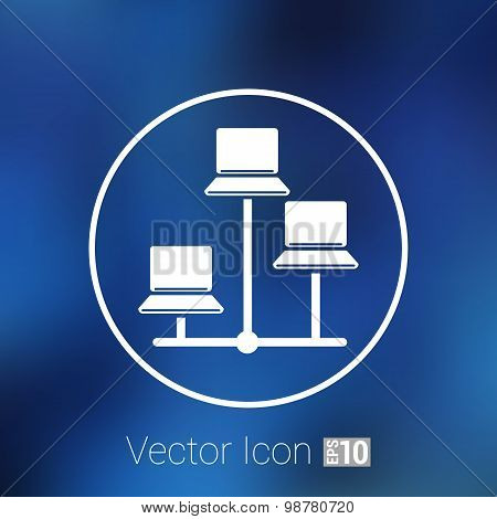 Network - vector icon networking wired lan web