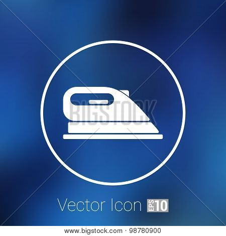 iron icon vector steam heat isolated clothing electric