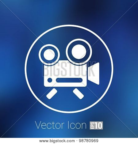 icon isolated chair recording square camcorder simbol