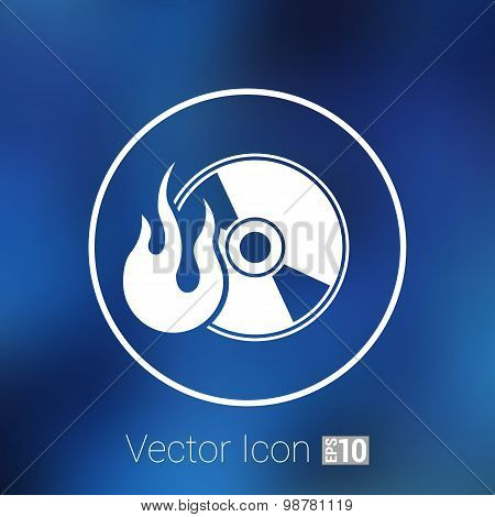 Icon computer disk recording abstract art audio