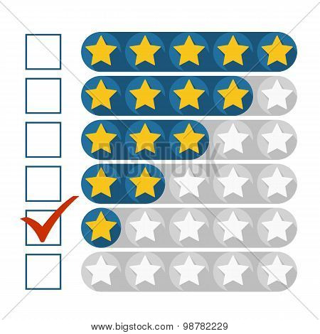 Low Rating Concept, Vector Illustration