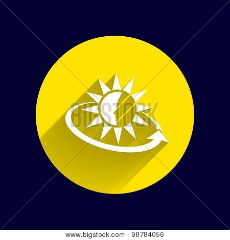 Sun Cream Containers. Vector illustration icon sun tan