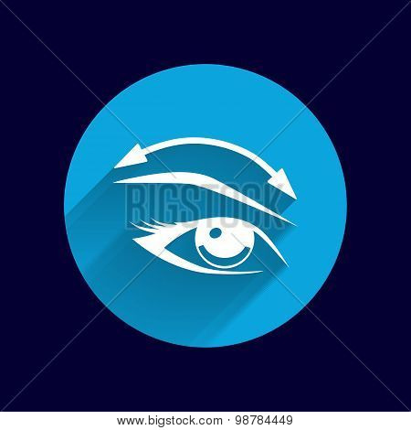 Eyelashes eyebrows vector eye icon makeup