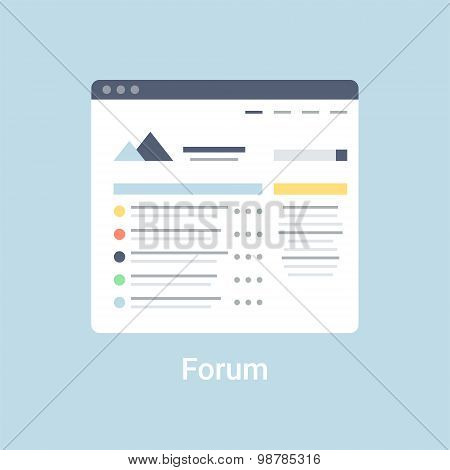 Forum Wireframe