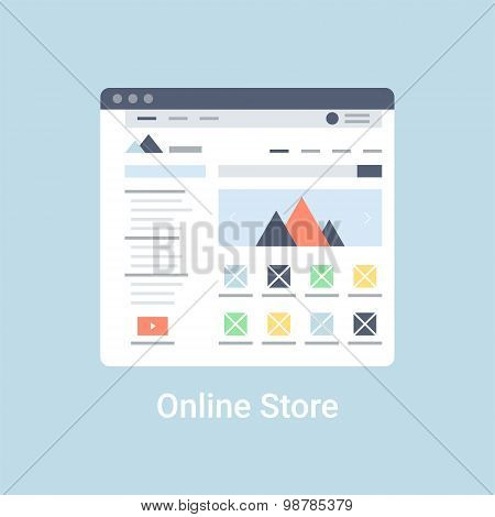 Online Store Wireframe