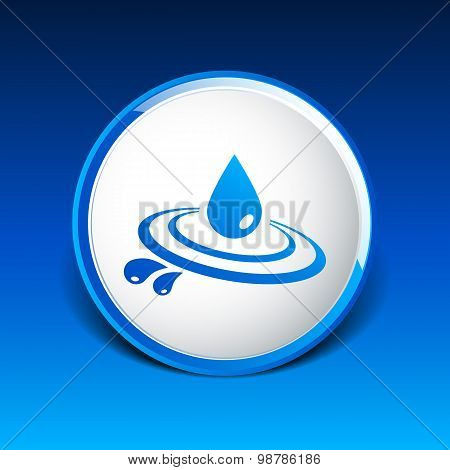 Abstract symbol  of a drop water vector