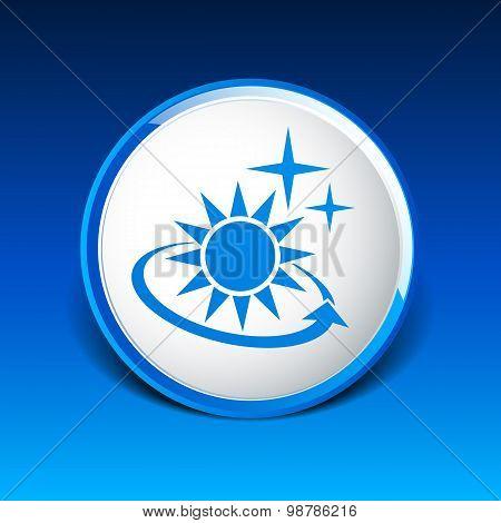 Vector icon sun outdoor sunlight shine