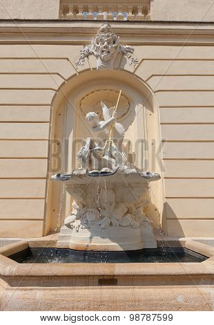 Fountain Of Austrian Academy Of Sciences In Vienna, Austria