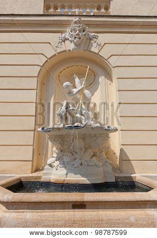 Fountain Of Austrian Academy Of Sciences In Vienna, Austria