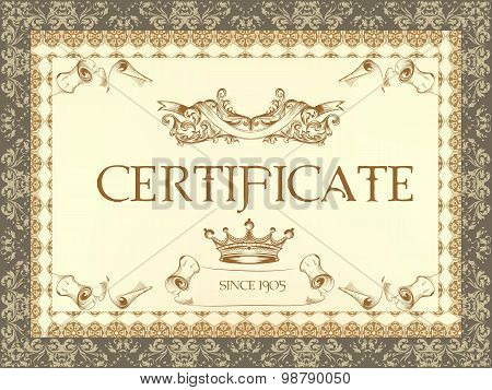 Certificate Or Coupon For Document Design