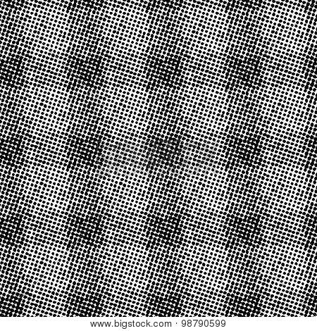 Raster halftone vector seamless pattern