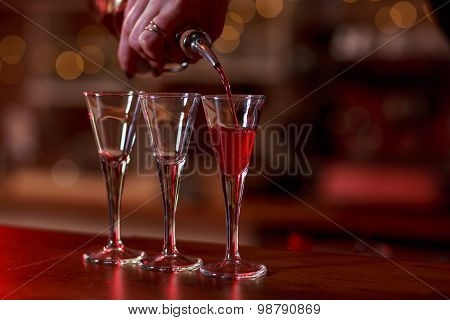 Soft Drink Being Poured