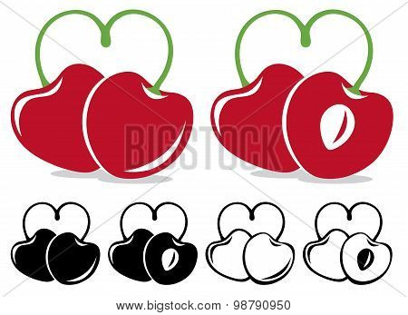 Heart-shaped Cherries