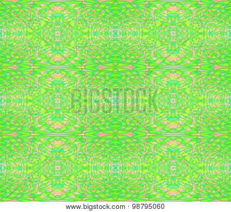 Abstract geometric background, extensive seamless ellipses pattern bright green and pink
