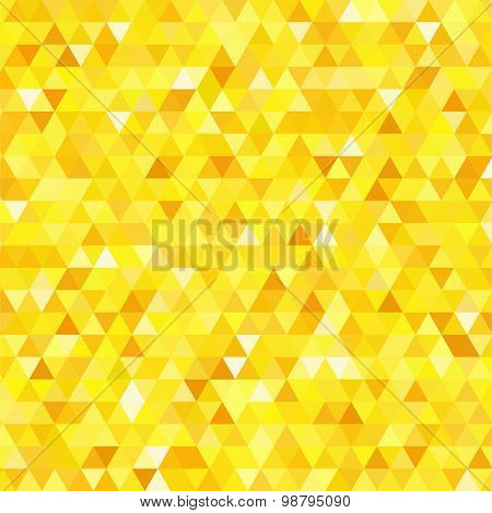 abstract background consisting of small yellow triangles