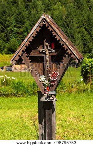 Wayside Shrine In Mountain - Trentino Italy