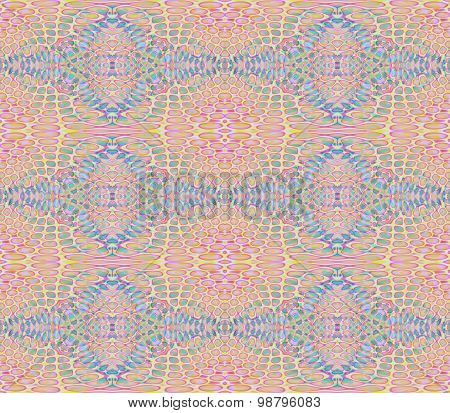 Seamless diamond pattern pink blue