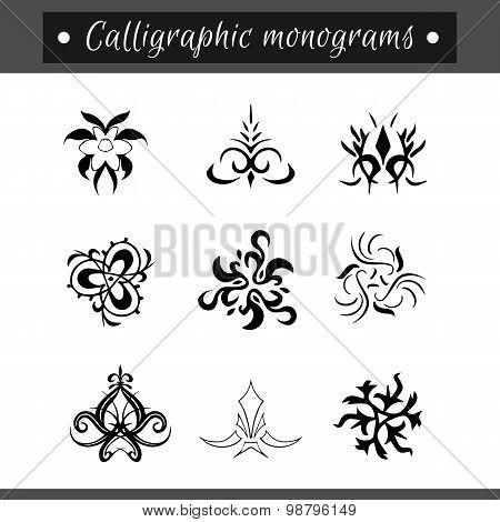 Calligraphical Monograms Set