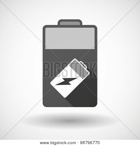 Isolated Battery Icon With A Battery