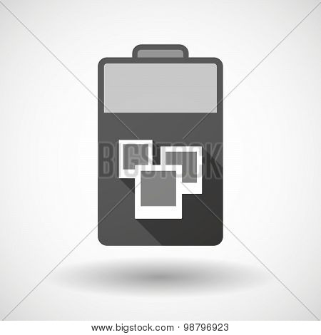 Isolated Battery Icon With A Few Photos
