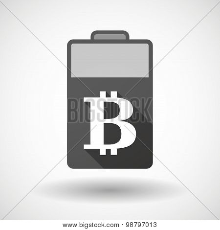 Isolated Battery Icon With A Bit Coin Sign