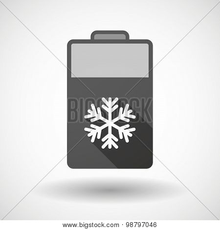 Isolated Battery Icon With A Snow Flake