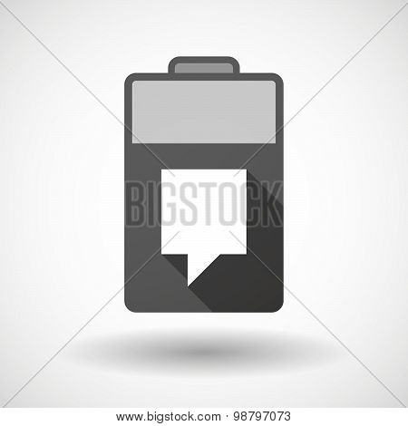 Isolated Battery Icon With A Tooltip