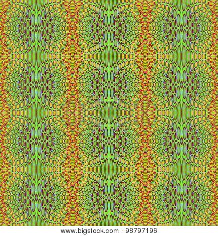 Seamless ellipses pattern green orange
