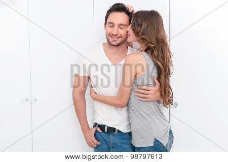 Nice couple kissing