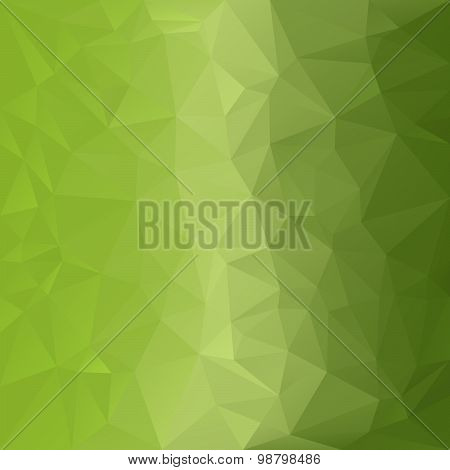 Vector Polygonal Background With Pattern - Triangular Design In Light Green