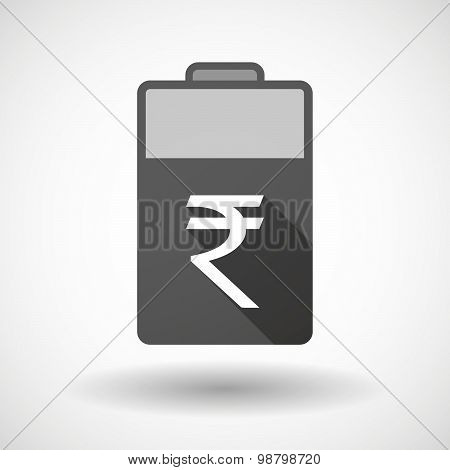 Isolated Battery Icon With A Rupee Sign