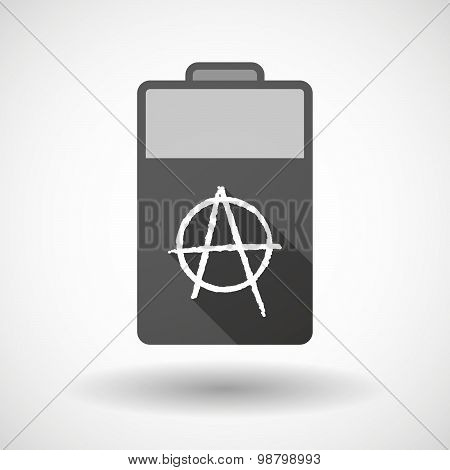 Isolated Battery Icon With An Anarchy Sign