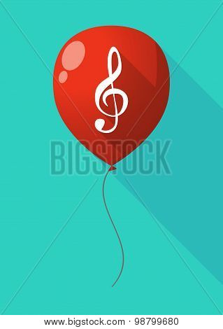 Long Shadow Balloon With A G Clef
