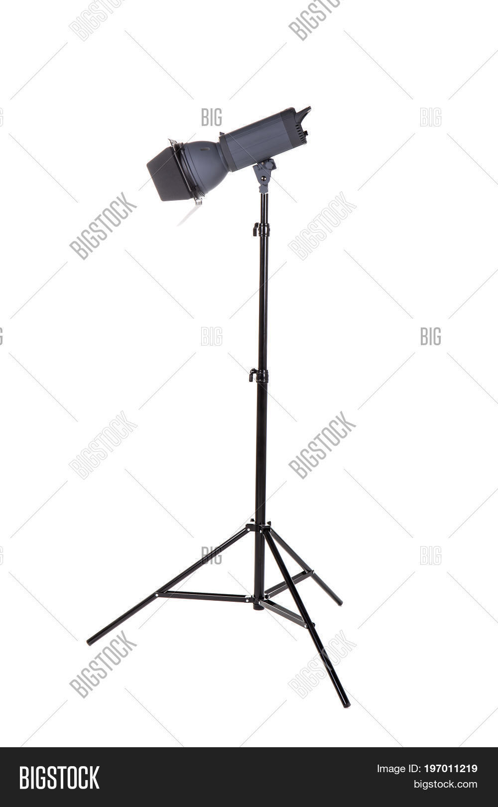 Studio flash isolated on a white background. Photo-studio with ...
