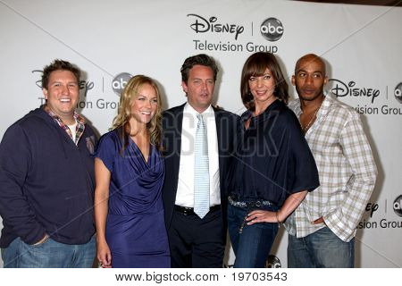 LOS ANGELES, CA - AUG 1:  Nate Torrence, Andrea Anders, Matthew Perry, Allison Janney, & Nate Torrence at the Disney / ABC Summer Press Tour  on August 1, 2010 in Beverly Hills, CA.....